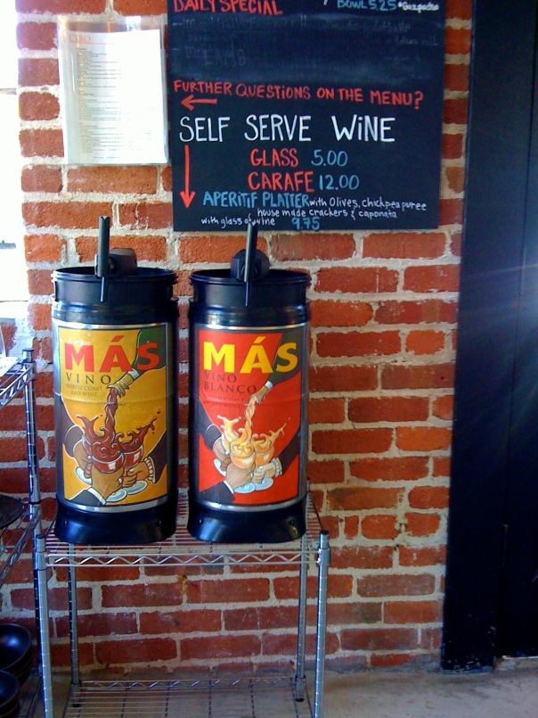 Self-service wine ... very nice