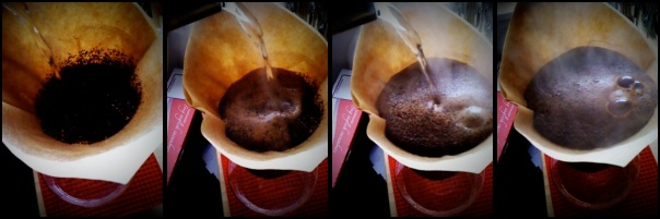 First, let it bloom – The last of the Verve Burundi Bwayi blooming in the Chemex.