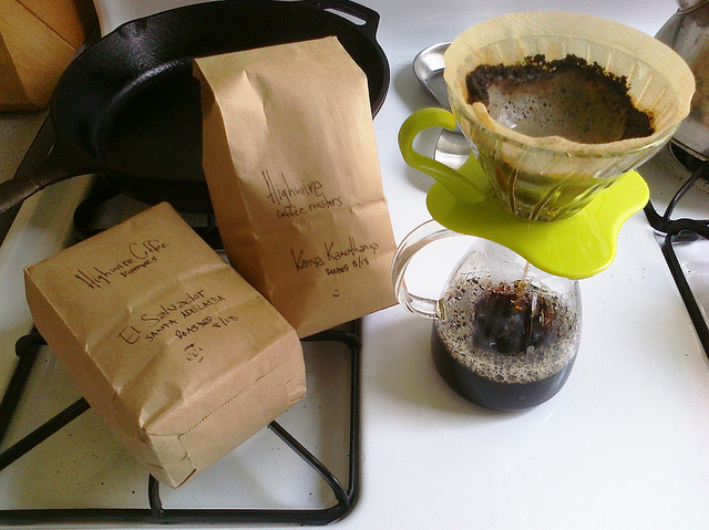 the shape of things to come. today's v60: @highwirecoffee samples