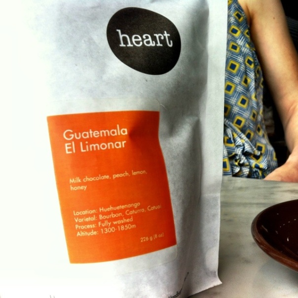 Heart coffee roaster's Guatemala El Limonar via Cognoscenti Coffee